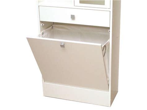 armoire salle de bain avec bac 224 linge et miroir wave