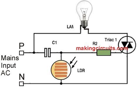 Day Night Automatic Triac Switch Circuit Dan