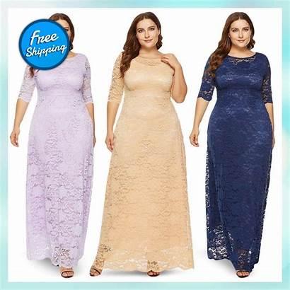 Lace Dresses Tops Maxi Formal Elegant