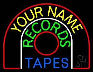 Custom Green Records Blue Tapes Neon Sign Custom Neon