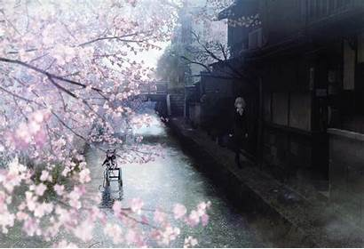 Anime Cherry Blossom Japanese Spring Watercolor Blossoms