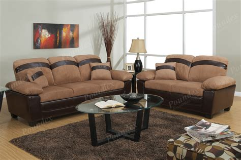 chic 2 pc sofa set seat storage microfiber