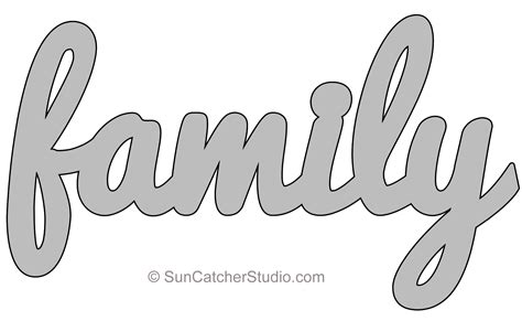 Family Will Template by Family Pattern Template Stencil Printable Word