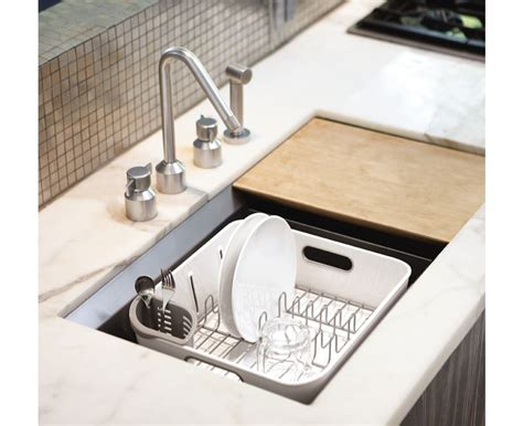 in sink dish rack simplehuman compact stainless steel dish rack sink drainer