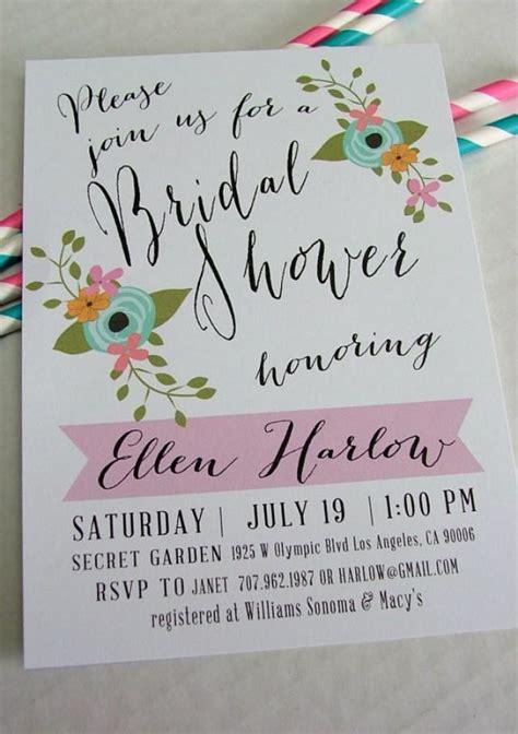 printable bridal shower invitation ellen diy floral and
