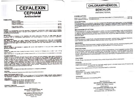 pinay pharmacist cefalexin  chloramphenicol leaflet
