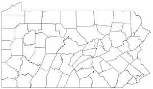 Pennsylvania Counties Map Blank