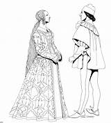 Coloring Renaissance Clothing Historical Medieval Renascimento Colorir Adults Adult Megacoloringpages Knight Printable History Desenhos Para 1373 Drawing Library Clipart 1239 sketch template
