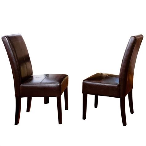 trent home anthony dining chairs in chocolate brown set