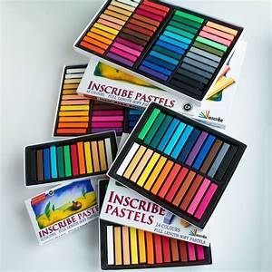 inscribe soft pastels in packs of 24 32 48 64 artist sets