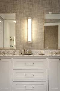 gray grasscloth wallpaper transitional bathroom jcs With grasscloth wallpaper in bathroom