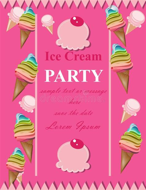 Party Invitation Card With Gifts And Balloons Vector