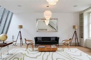 deco salon blanc pour un interieur lumineux et moderne With tapis champ de fleurs avec ikea canape cuir relax