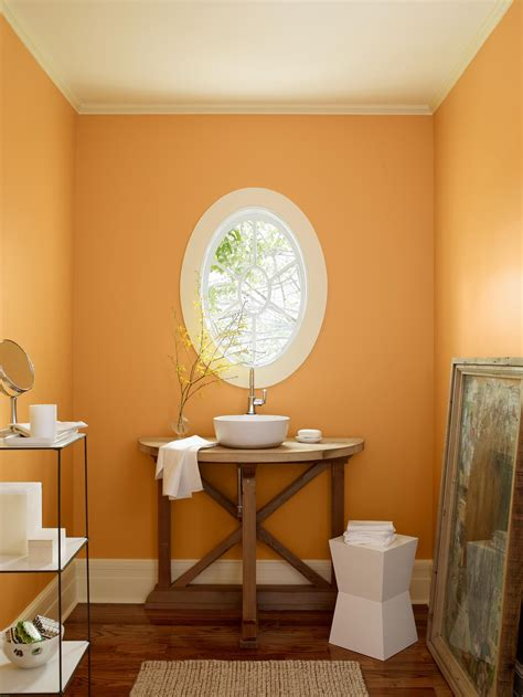 orange bathroom paint ideas  pinterest diy