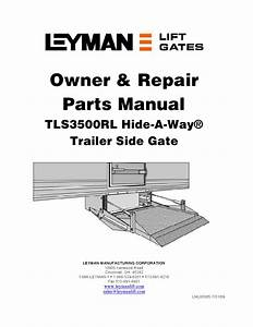 Leyman Tls 3500rl Series Liftgate By The Liftgate Parts Co
