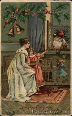 Santa Postcard Giving Toys To From Antique The 45 Best Vintage Cards Images On