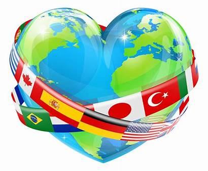 Heart Globe Earth Shaped Flag Ttc
