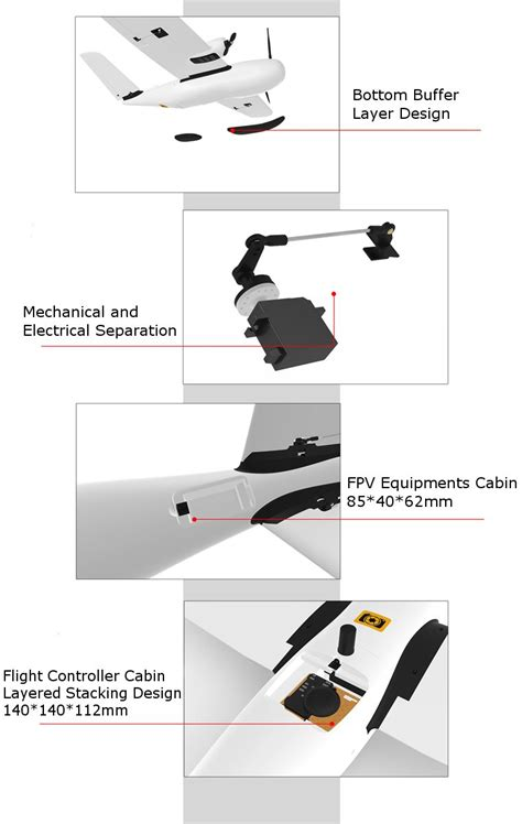 believer mm wingspan epo portable aerial survey aircraft rc airplane kit drone buyings