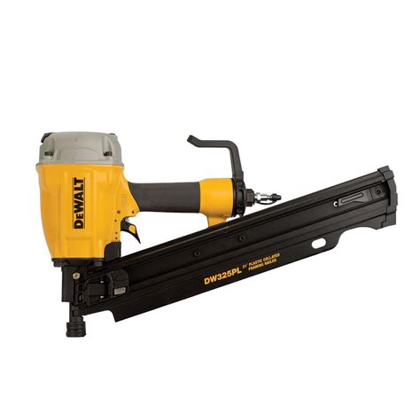 home depot dewalt floor nailer dewalt pneumatic 21 degree framing nailer dw325pl the