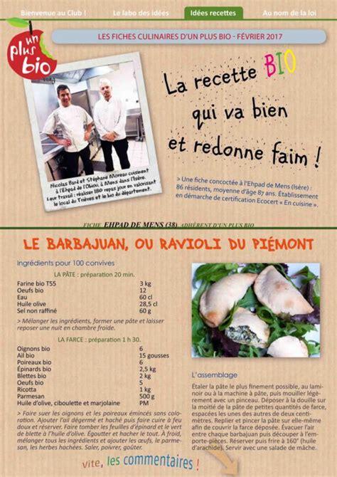 fiche recette de cuisine la recette de l 39 ehpad de mens isère le barbajuan un