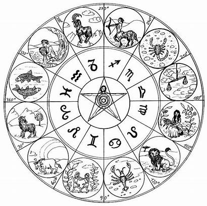 Coloring Zodiac Astrology Signs Pages Astrologie Coloriage
