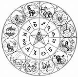 Coloring Zodiac Signs Astrology Pages Astrologie Coloriage Therapy Adult Colouring Sign Cancer Horoscope Virgo Scorpio Printable Astrological Mandala Aries Symbol sketch template