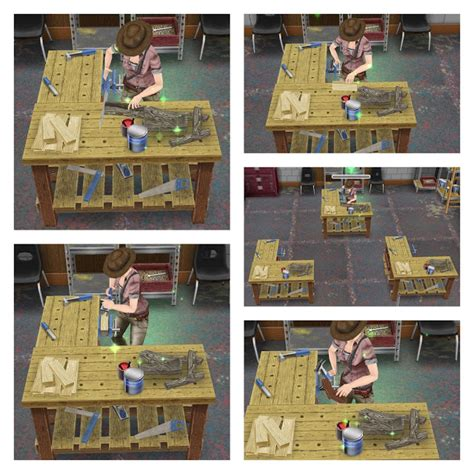 sims  woodworking table mod ofwoodworking