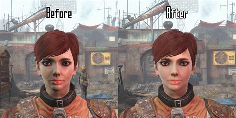 simple clean face  woman fallout  fo mods
