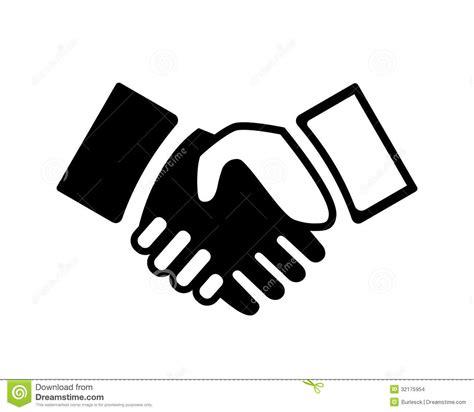 handshake stock vector illustration  business male
