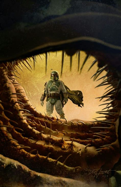 BOBA FETT ESCAPES THE SARLAAC PIT | Star wars artwork ...