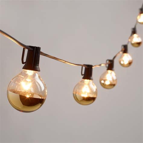 string lights gold dipped glass orb 20 bulb string lights market