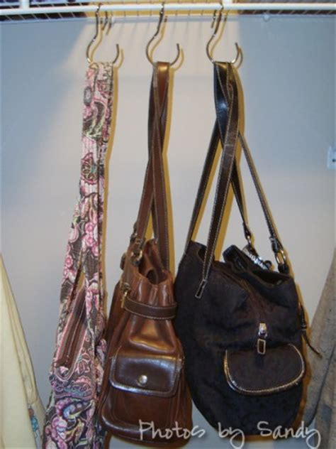 organize your handbags and purses organize with