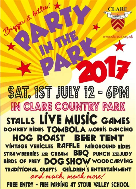 Party In The Park 2017  Clare Community Association