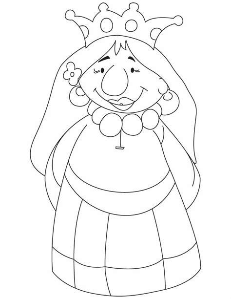 cartoon queen coloring pages    cartoon