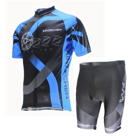 bike clothing quick drying 2015 men blue and black cycling jerseys