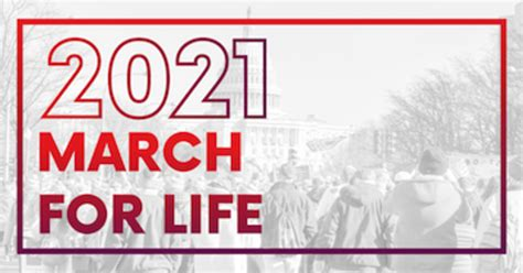 March for Life 2021 Happening (Virtually) Next Week ...