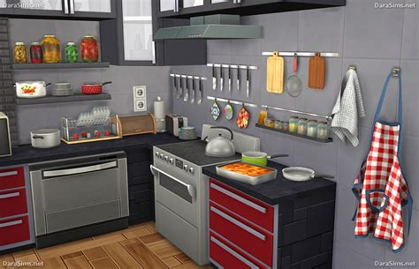 Kitchen Accessories Sets by My Sims 4 Kitchen Clutter And Food Decor By Dara