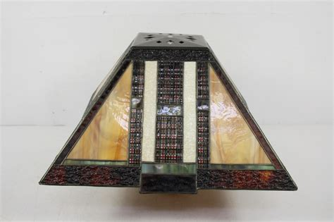 deco glass light shades style stained glass l shade deco ebay