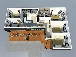 Stylish, House, Design, And, Plan, With, Three, Bedrooms, And, Space, Efficient, Layout