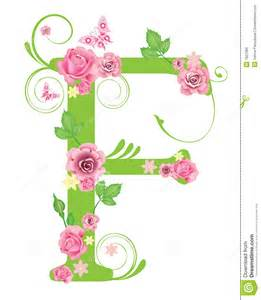 Roses with Letter F