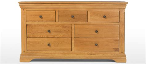 oak chest of drawers constance oak 3 4 wide chest of drawers quercus living