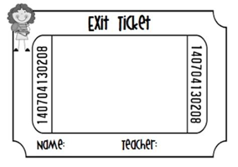 Ticket Of Leave Template by Exit Ticket Template Fun Classroom Ideas Pinterest