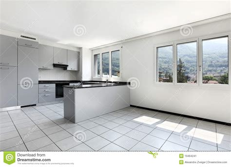 appartement neuf cuisine vide image stock image 19464241