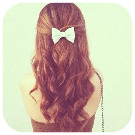 Curly Hair With Bow Hairstyles Pinterest Curly Hair