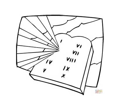 Coloring Pages Stone Tablet Tablets Torah Shavuot