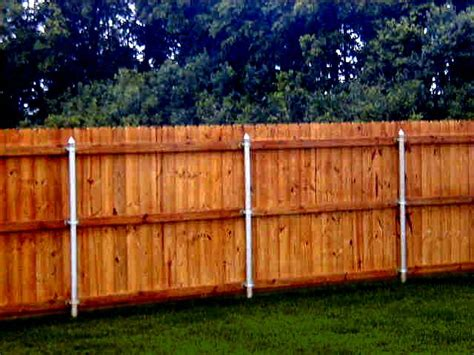 Metal Posts, Wood Fence, Great Way To Secure It And Make