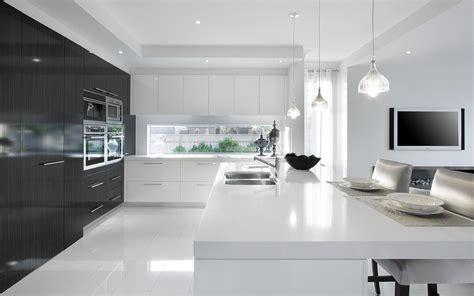 kitchen interior minimal black white home hd wallpaper