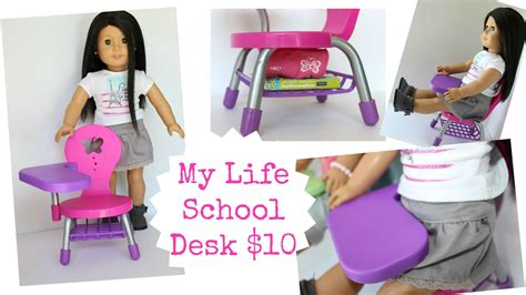 my life as desk and chair set american doll desk playset review youtube