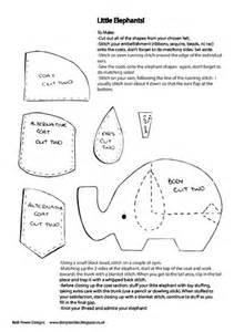 Felt Elephant Pattern Template