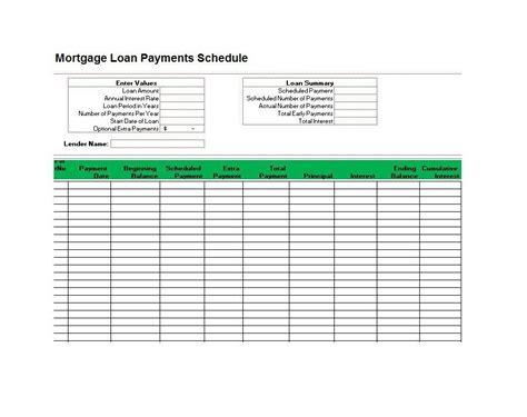 loan amortization spreadsheet template 28 tables to calculate loan amortization schedule excel